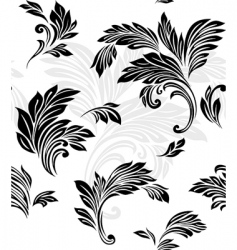vector floral pattern vector image vector image
