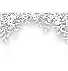 bushy cutout vector image vector image