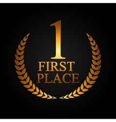 First Place Laurel Design Label vector image vector image