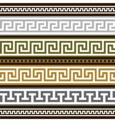 set of greek geometric borders vector image vector image