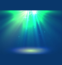 Abstract magic light background blue holiday vector