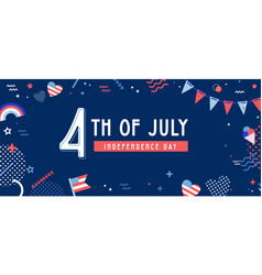 American independence day celebration web banner vector