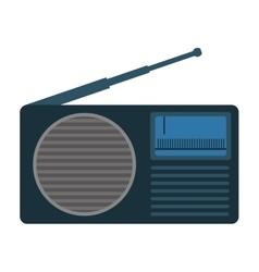 analog radio icon image vector image