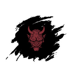angry devil with abstract black background vector image