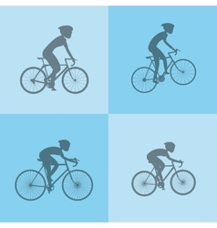 Assorted cyclists image vector