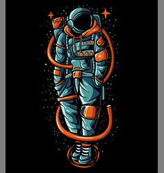 Astronaut wearing streetwear sweater vector