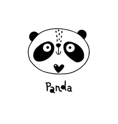 Avatar cute face panda portrait vector