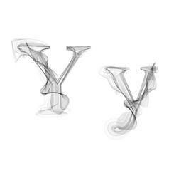 Black Smoke font Letter Y vector