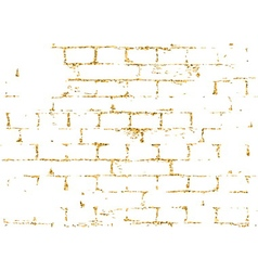 Brick wall gold texture pattern black decorative vector image