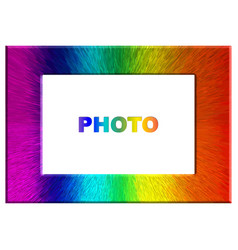 bright colorful rainbow color photo frame vector image