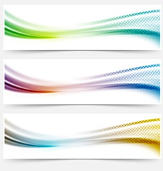 Bright smooth abstract swoosh dotted line header vector