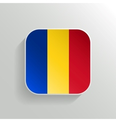 Button - Romania Flag Icon vector