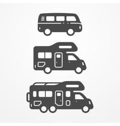 Camping van set vector image