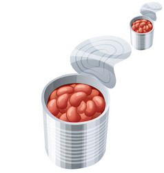 canned beans icon isolated on white background vector image