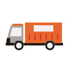 cargo truck icon image vector image