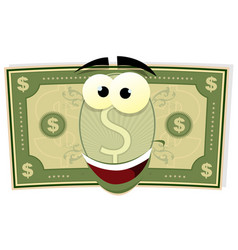 cartoon us dollar character vector image