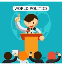 Cartooned world politics concept vector