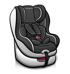 Child car seat design vector