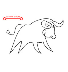 chinese new year sign abstract ox bull cow vector image