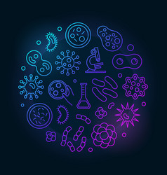 Colorful viruses round made vector