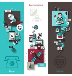 Communication Banner Set vector