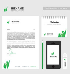 company letter design also with calender and vector image