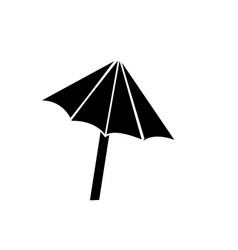 Contour nice umbrella open to protect of sun vector
