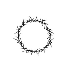 Crown thorns sketch logo vector
