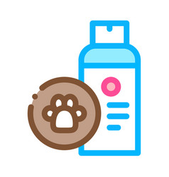 dog care spray icon outline vector image