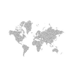 dotted world map background halftone earth map vector image