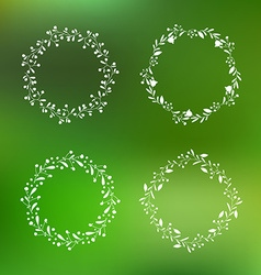Floral Wreath Set vector