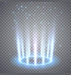 Glittering magic fantasy portal vector