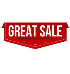 great sale banner design vector image