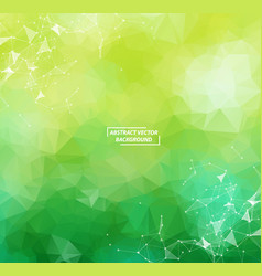 green geometric polygonal background molecule and vector image