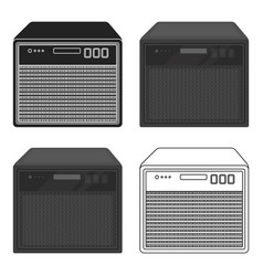 guitar amplifier icon in cartoon style isolated on vector image