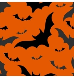 Halloween bats seamless pattern vector image
