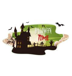 halloween smoke background vector image