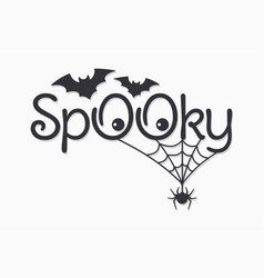 Halloween vintage lettering spooky on white vector