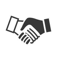 Human hand shake gesture shape icon vector