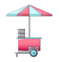 Icecream street shop icon cartoon style vector