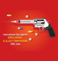 International day against drug abuse background vector