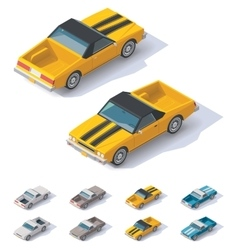 Isometric utility coupe car vector