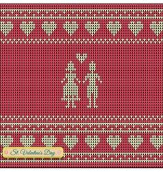 Knitting pattern sweater green t 5rtt vector