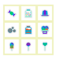 Label icon on design sticker collection candy and vector