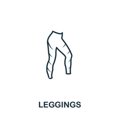 Leggings icon thin outline style design from vector