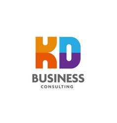 letter kd logo simple design template business vector image