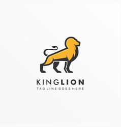 logo king lion mascot cartoon vector image