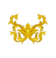luxurious baroque ornament elegant golden vector image