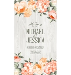 Luxurious floral card vector