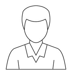 Man avatar profile icon outline style vector image